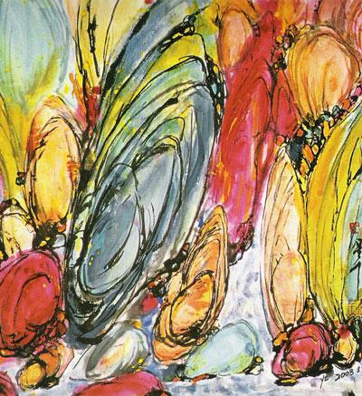 毕加索抽象画作品-首届法国艺术家绘画展将在京举办