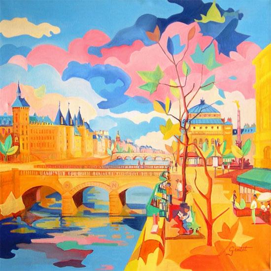 法国艺术家绘画作品