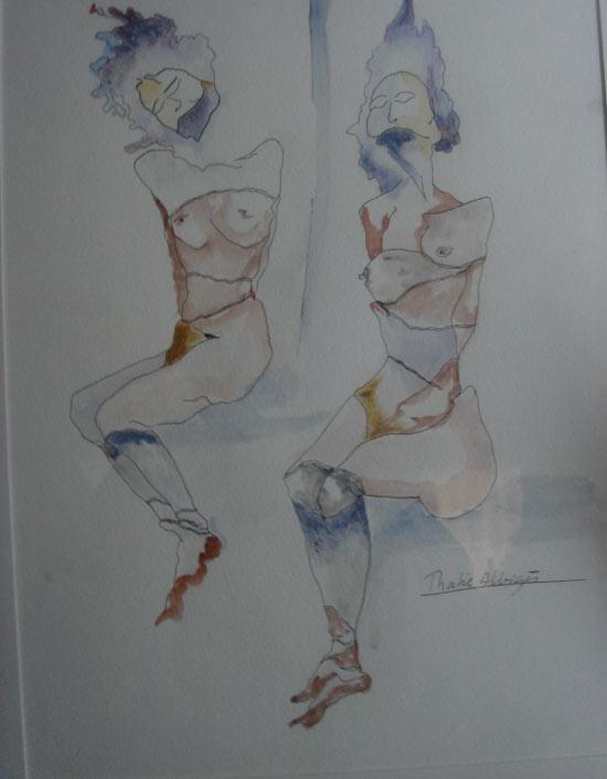 月亮水彩画法-艺术家:爱乐比泽 法国 达利   艺术家:啦卡特 艾斯特尔   作品:le