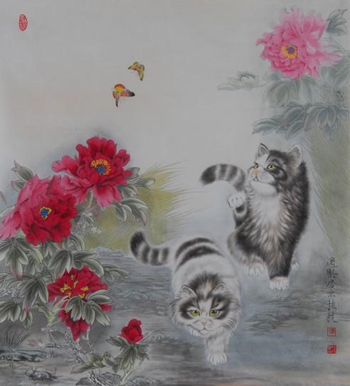 张桂枝百万工笔作品被老子书画院收藏