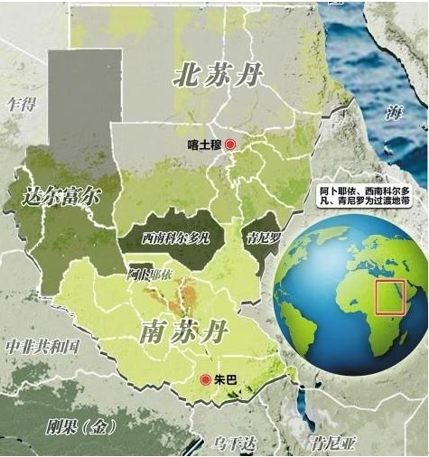 最新南苏丹地图