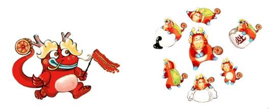 """年,人们常用""""红红火火""""形容它.""""大年""""、""""小年""""形象主体红色"""