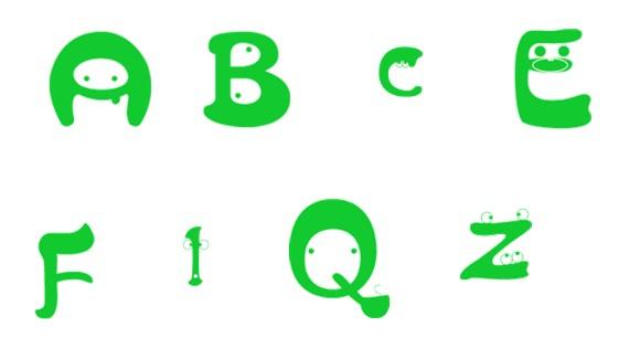 动感的表情英文字母是设计师在北京站完成图片