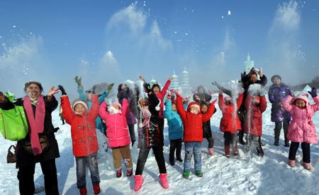 沈阳冰雪节现场图片