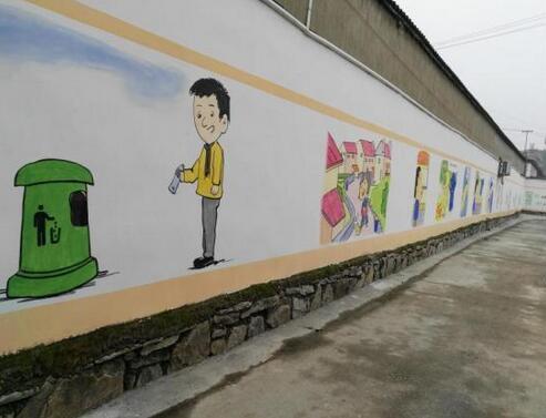"""宣城:宁国汪溪街道""""文化墙""""为创城添彩"""